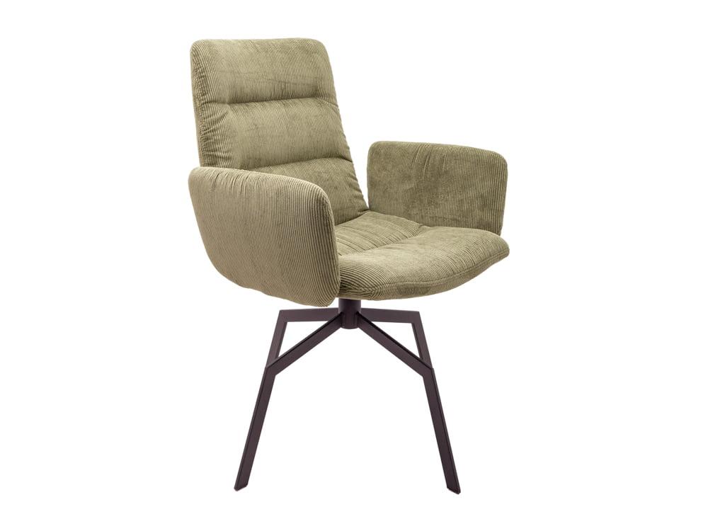 Vokiški baldai kėdė arva-light-su porankiais zalia (1)