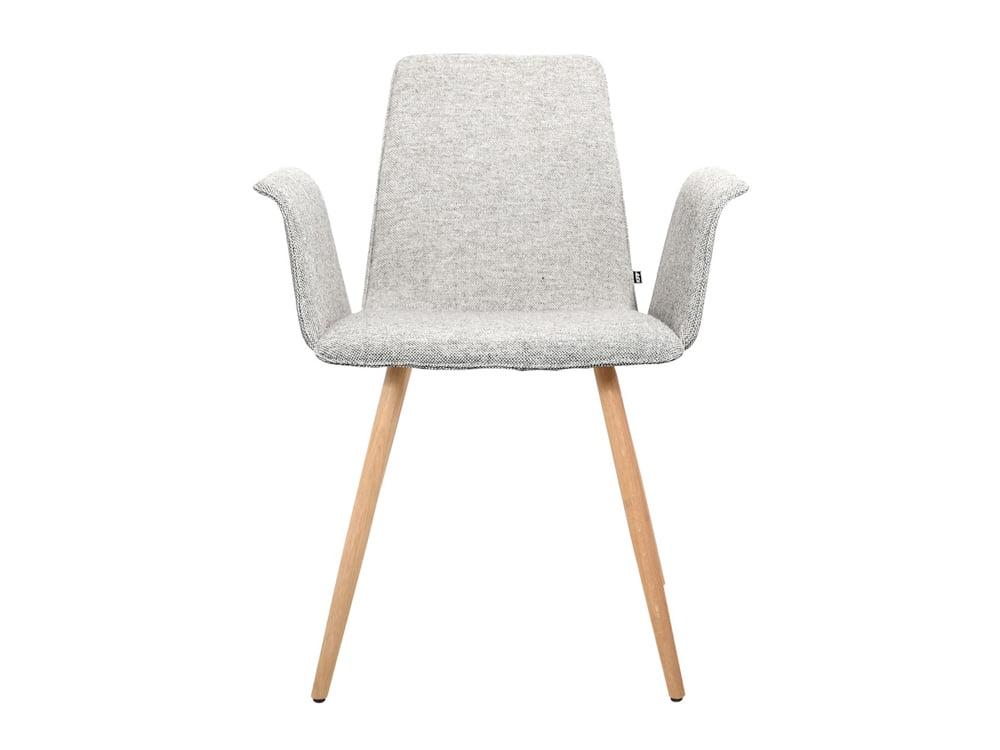 Vokiški baldai kėdė maverick-polster su porankiais medines kojos
